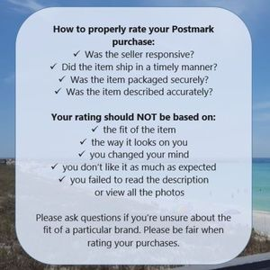 Other - Please be fair when rating your purchases!